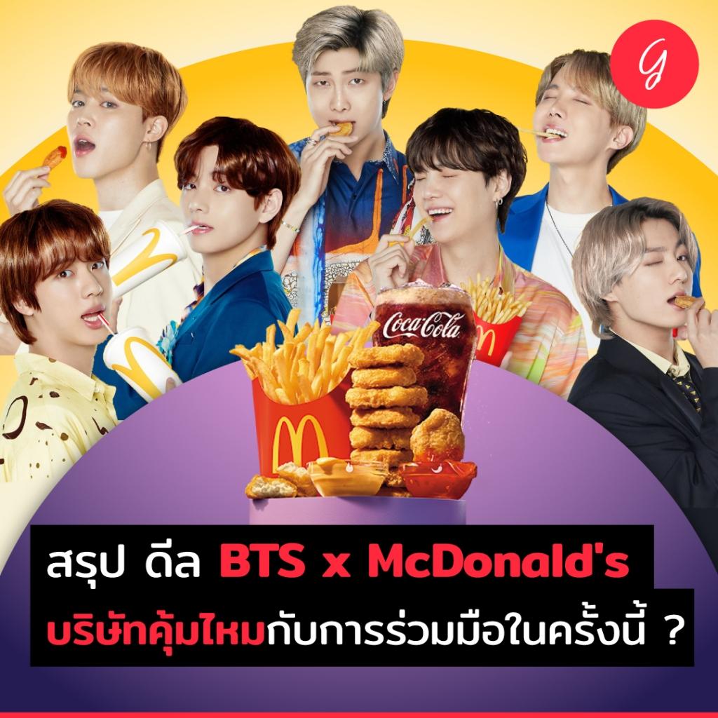 สรุป ดีล BTS x McDonald's บริษัทคุ้มไหมกับการร่วมมือในครั้งนี้ ?